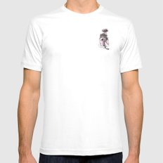 s.o.s Mens Fitted Tee MEDIUM White