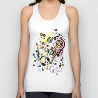 headphones Tank Tops featuring Headphones by AURA-HYSTERICA