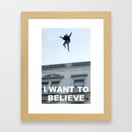 I Want to Believe in Sherlock Holmes Framed Art Print