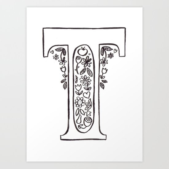 T is for Art Print