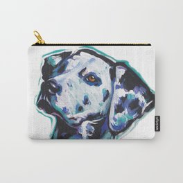 Dalmatian Fun Dog bright colorful Pop Art Painting by LEA Carry-All Pouch