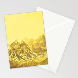 Mountains Yellow Stationery Cards