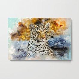 Leopard Look Wild Metal Print