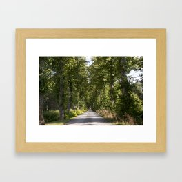 Down the road Framed Art Print