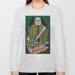Halloween Party At Camp Blood Long Sleeve T-shirt