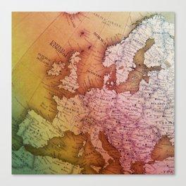 Antique Europe Map Canvas Print