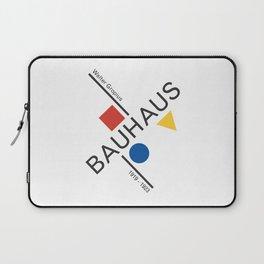 Bauhaus Movement Poster Artwork, 1919 Walter Gropius Reproduction, tshirt, tee, jersey, poster, artw Laptop Sleeve
