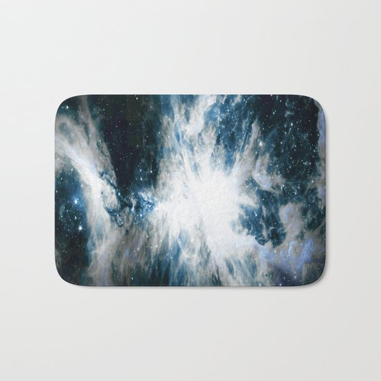 Orion Nebula Blue & Gray Bath Mat