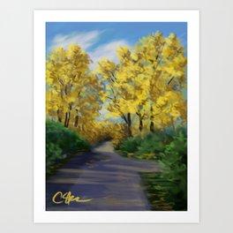 Autumn Road DP151004-14 Art Print