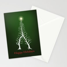 Christmas Tree Intertwined - painting Stationery Cards