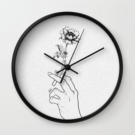 Flowery Cigarette. Wall Clock