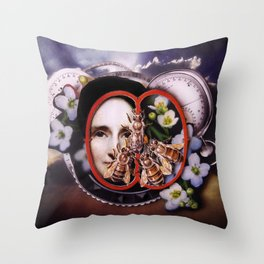 Milk, Honey and Time | Collage Throw Pillow