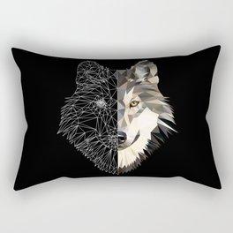 Mixed Wolf Rectangular Pillow