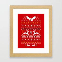 NUGly Christmas Sweater Framed Art Print
