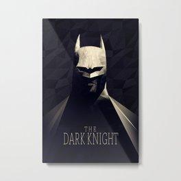 The Bat Knight Poly Art Metal Print