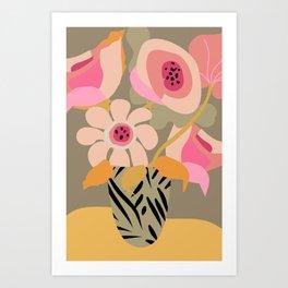 Flower Bucket Art Print