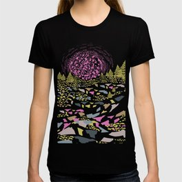 Trippy hills colorful T-shirt