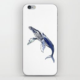 Humpback Whale, whale sea world desocr whale home decor florida beach iPhone Skin