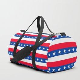 Red White Blue Stars Stripes Patriotic Duffle Bag