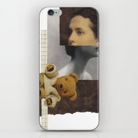 teddy bear iPhone & iPod Skins featuring Teddy by KatinkaHanselman