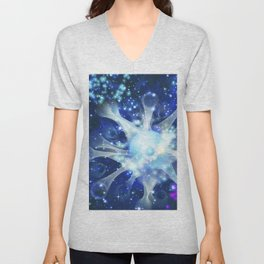Invisible paths of the Universe. Space Unisex V-Neck