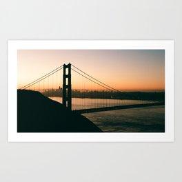 Golden Gate Sunrise Art Print