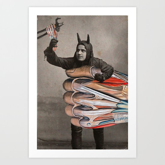 TAKING THINGS INTO HIS OWN HANDS Art Print