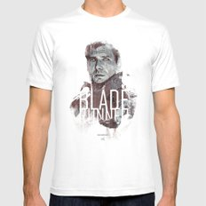 Blade Runner White Mens Fitted Tee X-LARGE