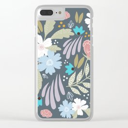 Scandinavian Florals Clear iPhone Case