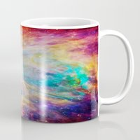 nebula Mugs featuring nEBula : Colorful Orion Nebula by 2sweet4words Designs