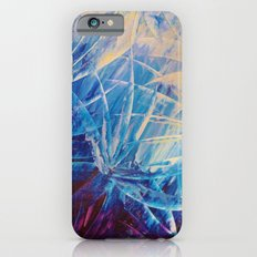 NIGHT FLOWERS - Beautiful Midnight Florals Feathers, Eggplant Lilac Periwinkle Cream Modern Abstract iPhone 6s Slim Case