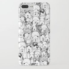 just alpacas black white Slim Case iPhone 7 Plus