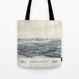 Aerial View of Cleveland, New York (1890) Tote Bag