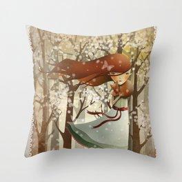Miss Teaspoon Throw Pillow