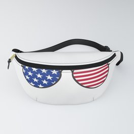 4th of July Patriotic American Gift Independence Day Fanny Pack