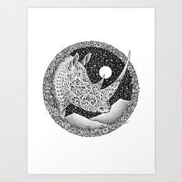 RHINO - MIDNITE STORY Art Print
