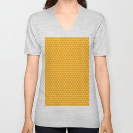 Bee Hive Yellow Curry Unisex V-Neck