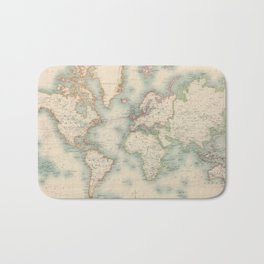 Vintage Map of The World (1911) Bath Mat