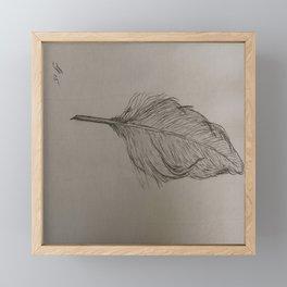 Goose Feather Framed Mini Art Print