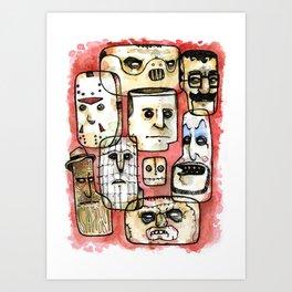 Oh The Horror Art Print