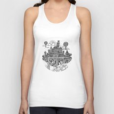 Floating city Unisex Tank Top
