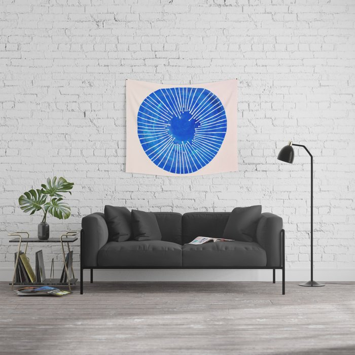 Blue Circle Wall Tapestry
