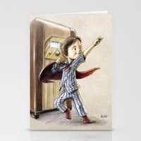superhero Stationery Cards featuring Serial Superhero by Allan McInnes