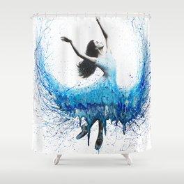Blue Wave Dancer Shower Curtain