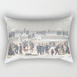 Paris art print Paris Decor office decoration vintage decor SIEGE & BASTION of Paris Rectangular Pillow