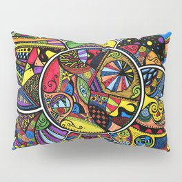 Ever decreasing circles Pillow Sham