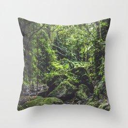 Green Life Throw Pillow