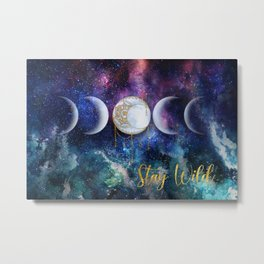 Celestial Ocean Moon Phases | Stay Wild Metal Print
