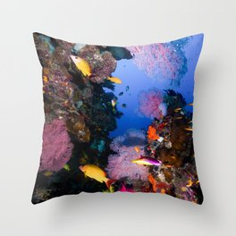 Tropical Fish Great Barrier Reef Coral Sea Throw Pillow