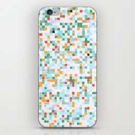 handmade coloured squares iPhone Skin